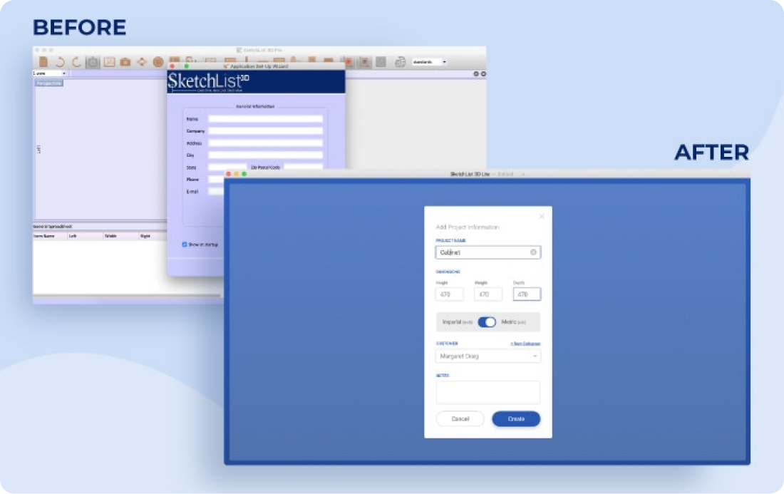 A complete user interface overhaul, making the design, flow, and user experience more intuitive and consistent.