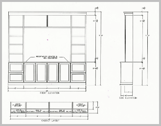 wall unit 2 drawing