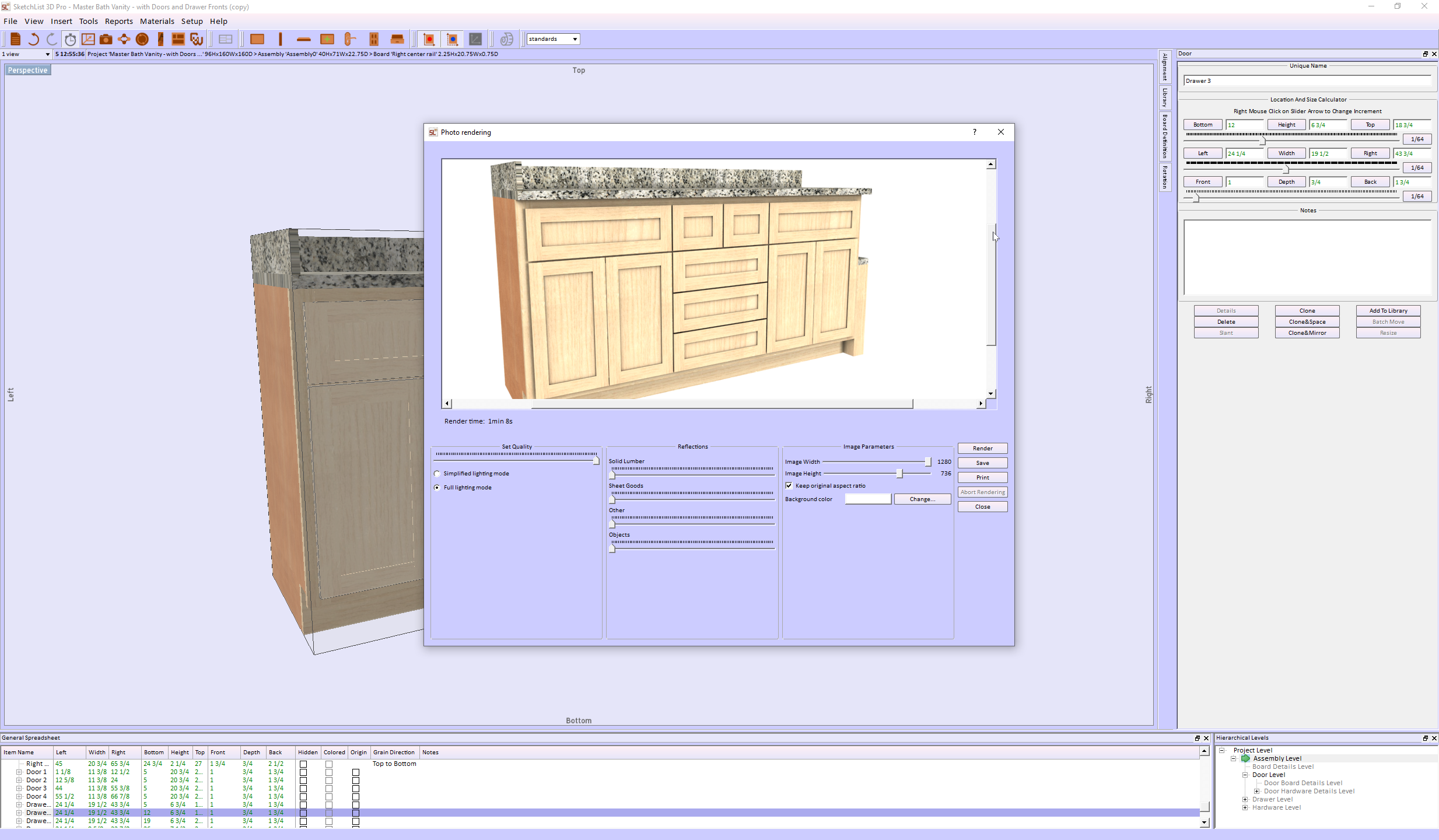 woodworking software image of cabinet